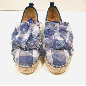 Sam Edelman Shoes - Rare Sam Edelman Denim Bow Espadrilles slip